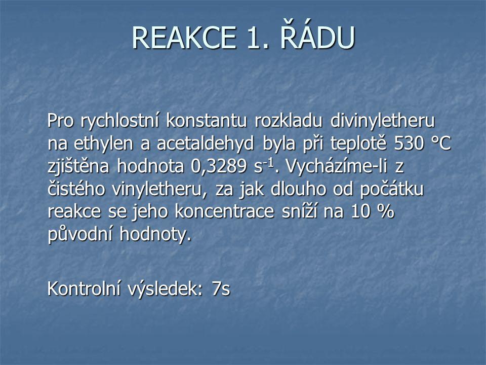 REAKCE 1.