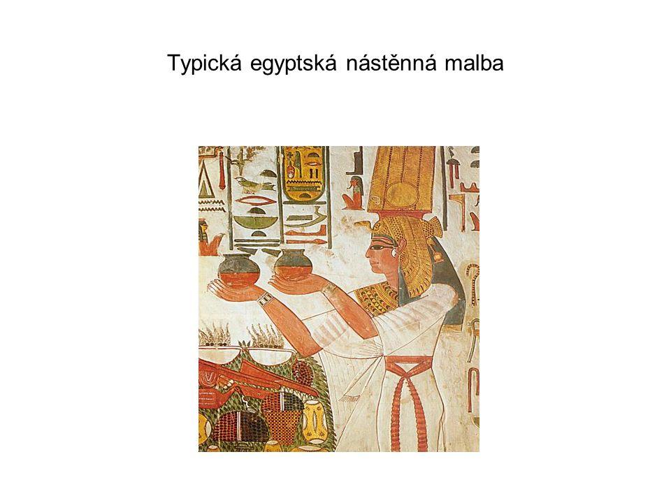 Typická egyptská nástěnná malba
