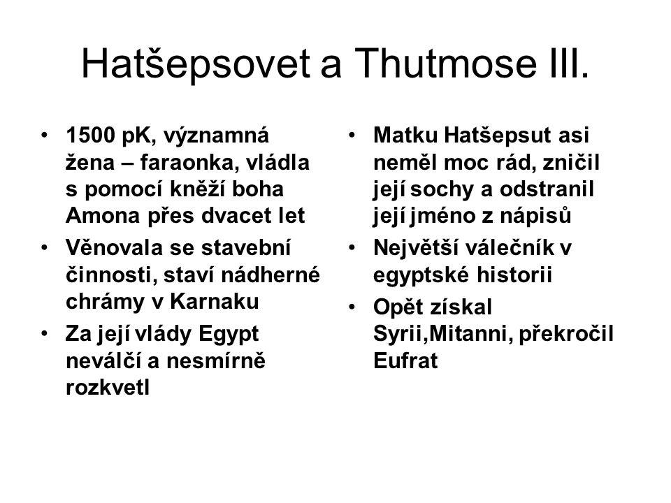 Hatšepsovet a Thutmose III.
