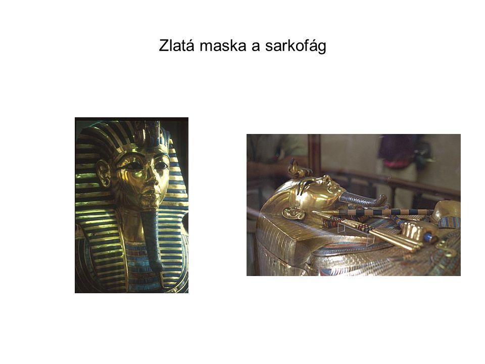 Zlatá maska a sarkofág
