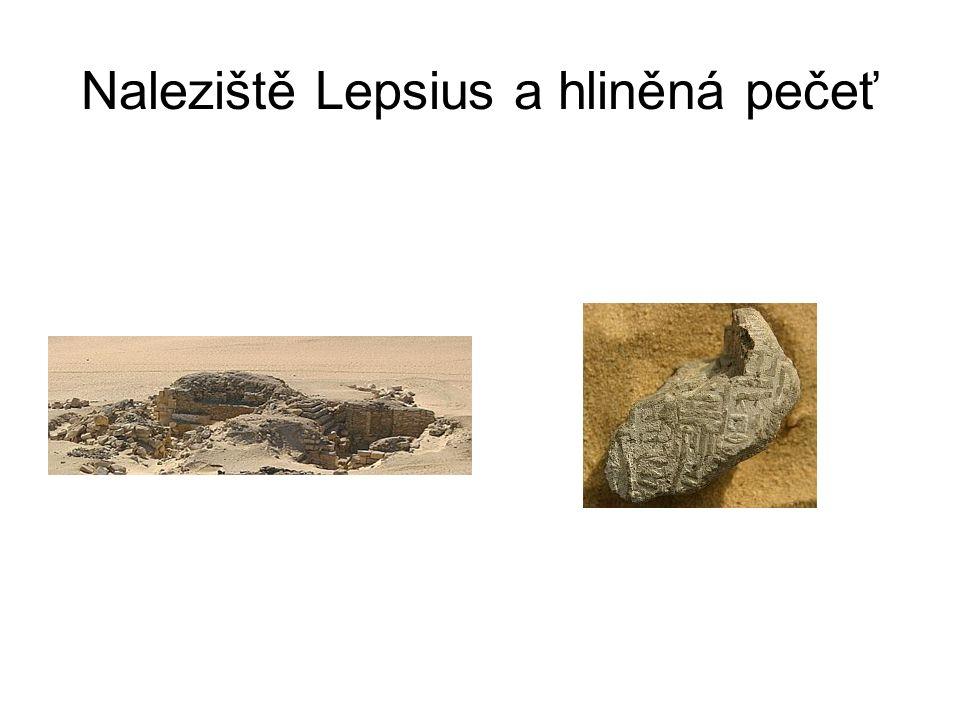 Naleziště Lepsius a hliněná pečeť