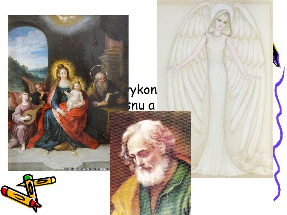 A tak sv. Jozef vykonal to, co mu poradil anděl ve snu a tím zachránil Marii a malého Ježíška.