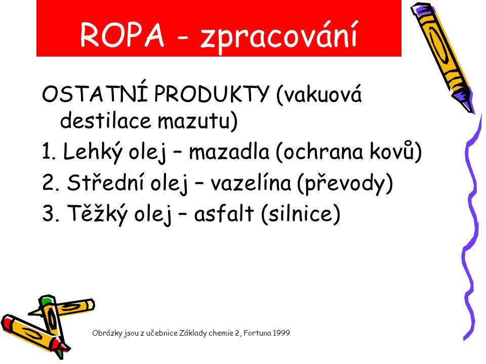 ROPA - zpracování OSTATNÍ PRODUKTY (vakuová destilace mazutu) 1.