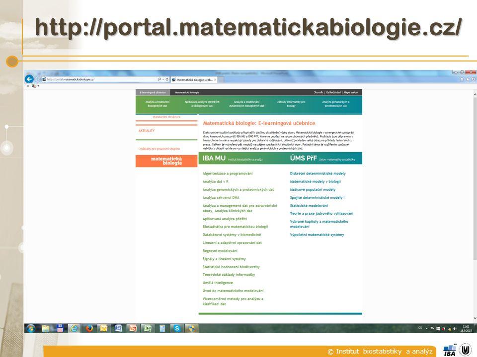 http://portal.matematickabiologie.cz/