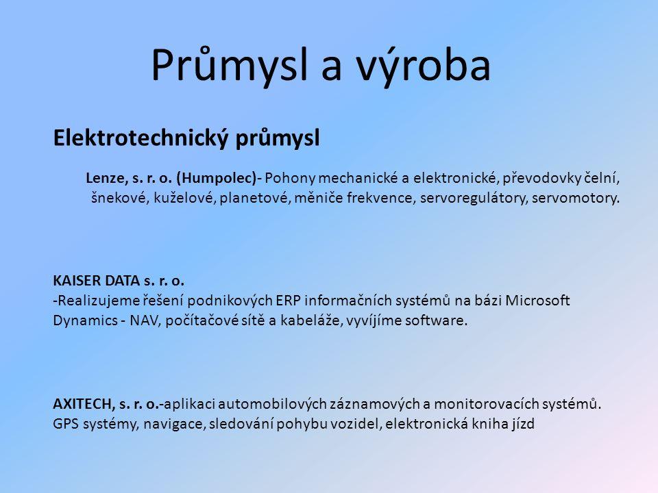 Průmysl a výroba Elektrotechnický průmysl Lenze, s.