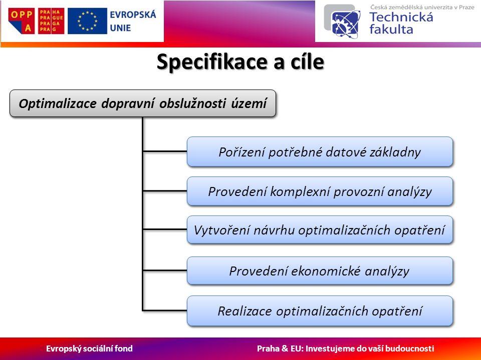 Evropský sociální fond Praha & EU: Investujeme do vaší budoucnosti Specifikace a cíle