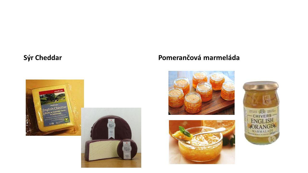 Sýr CheddarPomerančová marmeláda
