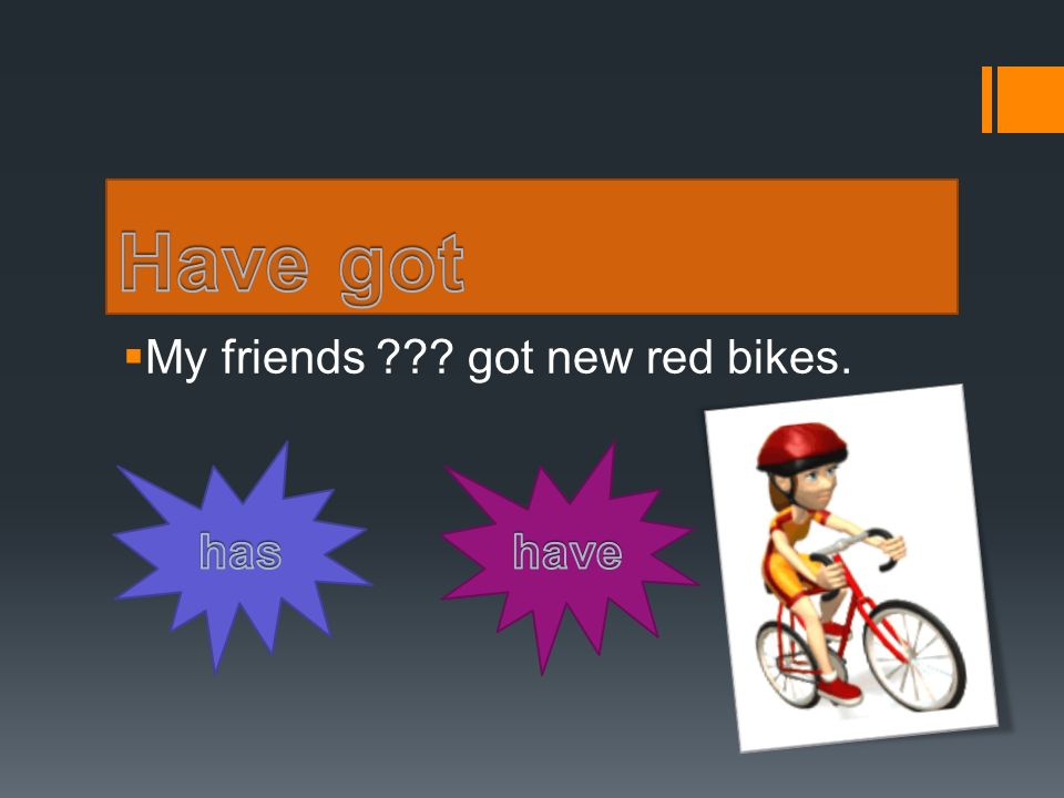  My friends ??? got new red bikes.