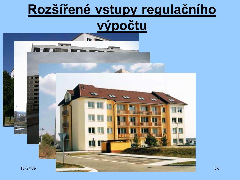 11/2009Přednáška č. 416 Rozšířené vstupy regulačního výpočtu