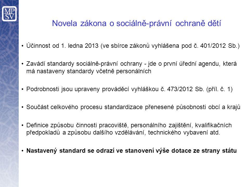 Novela zákona o sociálně-právní ochraně dětí Účinnost od 1.