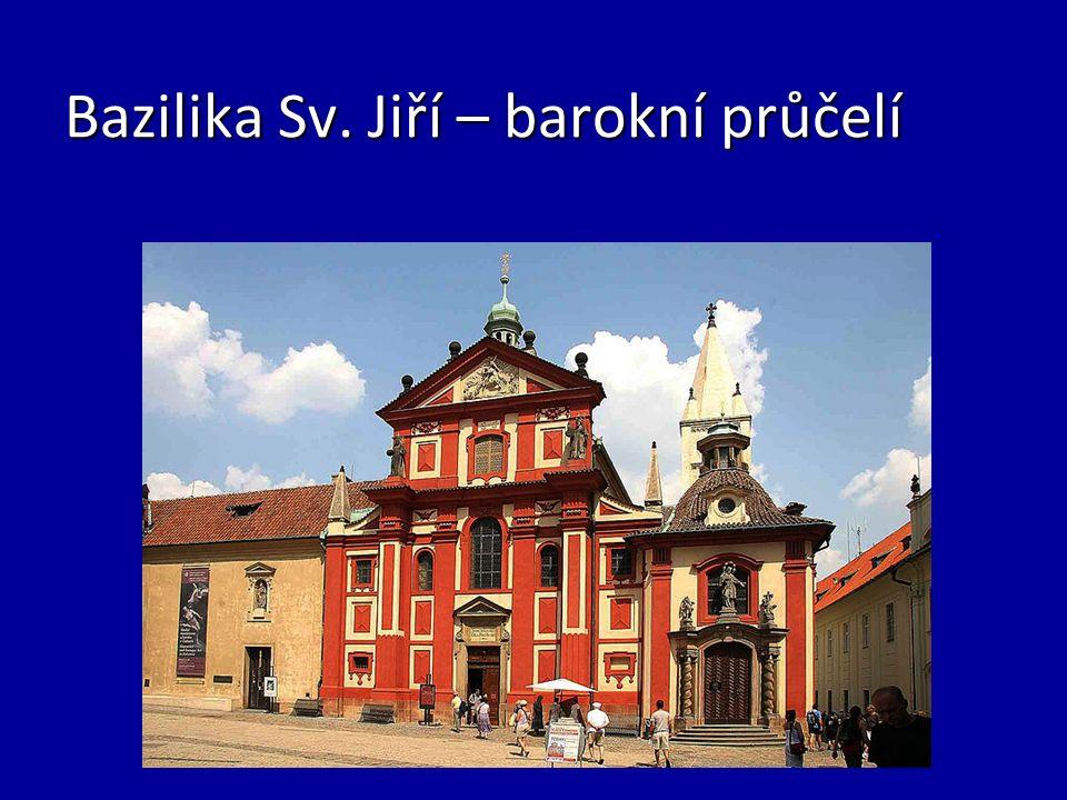 Bazilika Sv. Jiří – barokní průčelí