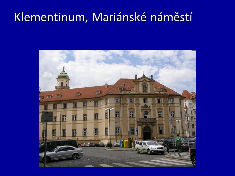 Klementinum, Mariánské náměstí
