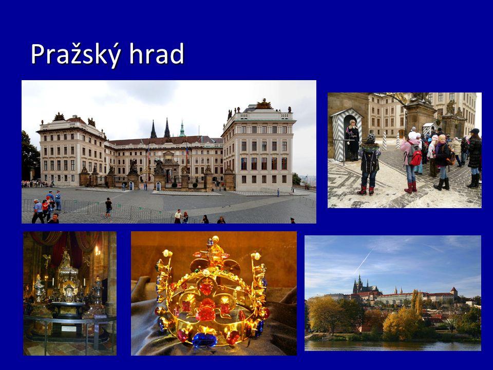 Katedrála svatého Víta… - Je dominantní stavba na Pražském hradě - Je dominantní stavba na Pražském hradě - Jedná se o trojlodní gotickou katedrálu se třemi věžemi a sídelní kostel arcibiskupa pražského - Jedná se o trojlodní gotickou katedrálu se třemi věžemi a sídelní kostel arcibiskupa pražského - V letech 1060-1920 byla zasvěcena třem významným českým světcům a nazývala se katedrála sv.Víta, Václava a Vojtěcha - V letech 1060-1920 byla zasvěcena třem významným českým světcům a nazývala se katedrála sv.Víta, Václava a Vojtěcha