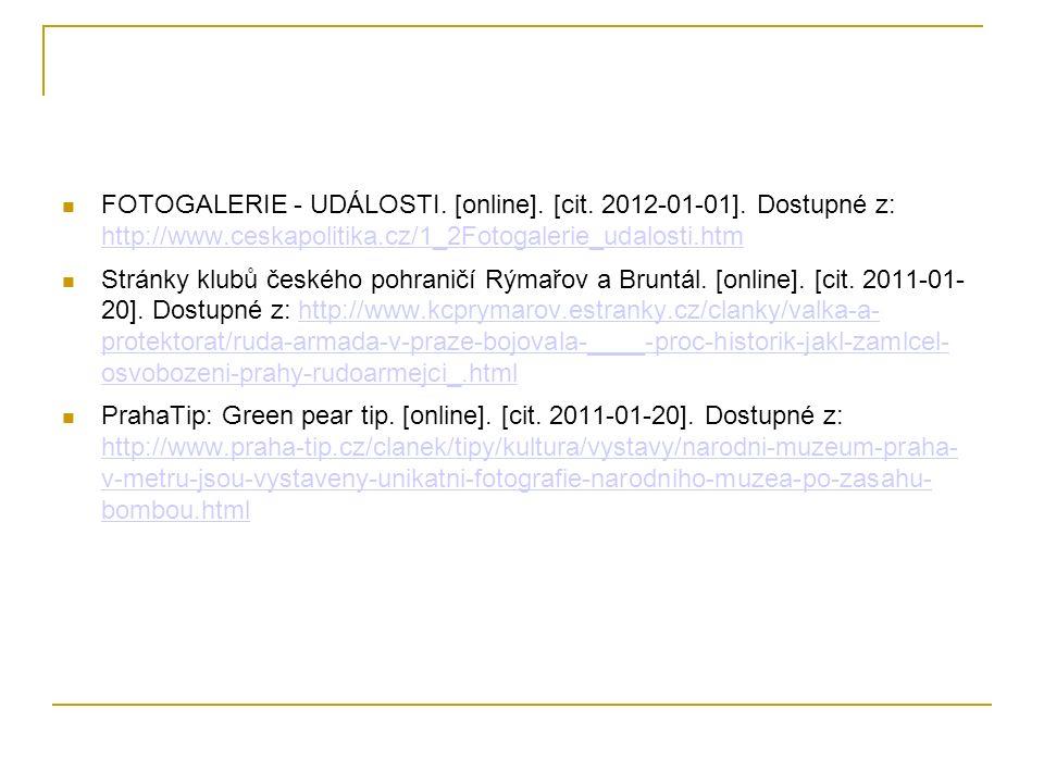 FOTOGALERIE - UDÁLOSTI. [online]. [cit. 2012-01-01].