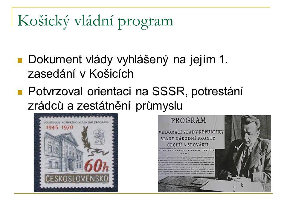 Košický vládní program Dokument vlády vyhlášený na jejím 1.