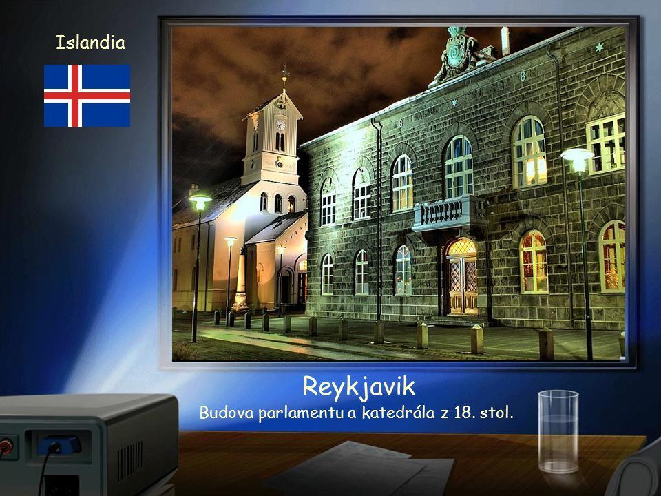 Islandia Island Reykjavik Panorama hlavního města