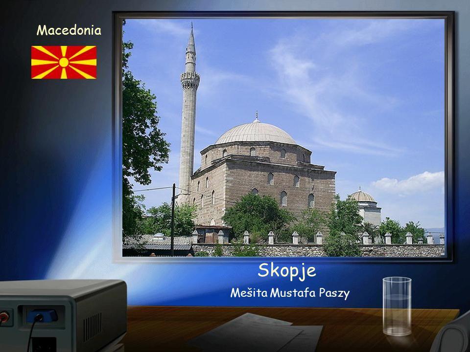 Skopje Macedonia Kościół Św. Klemensa - hlavní chrám makedonské pravoslavné církve