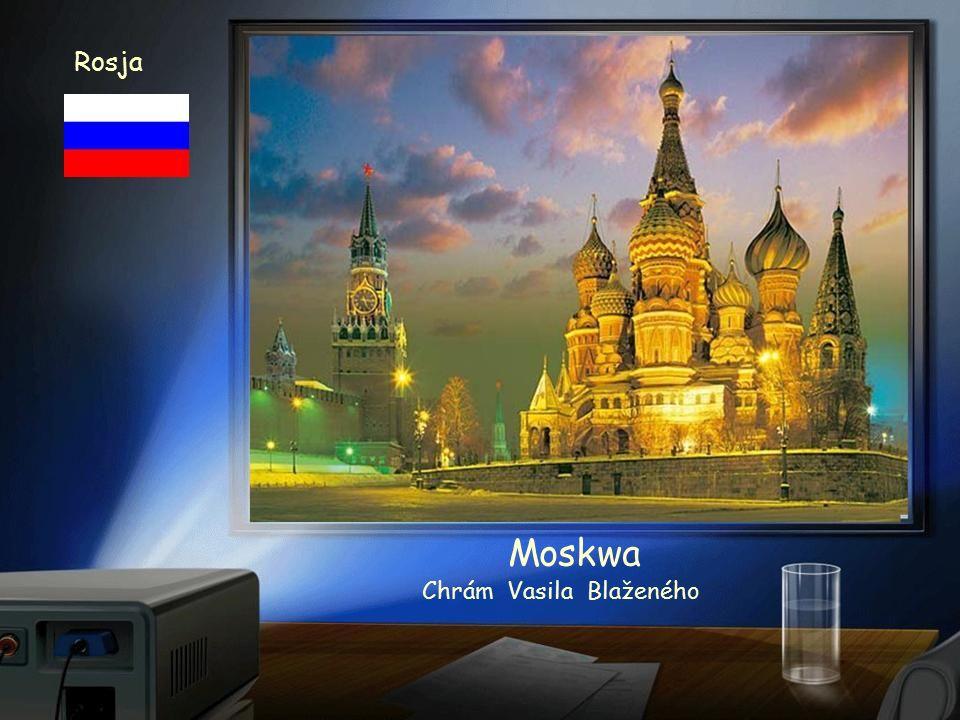 Rosja Rusko Moskwa Rudé náměstí asi po dešti
