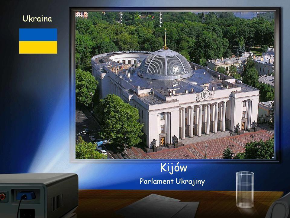 Ukraina Kijów Zlatá brána z XI.stol. (po rekonstrukci) je původní vstup do hlavního města
