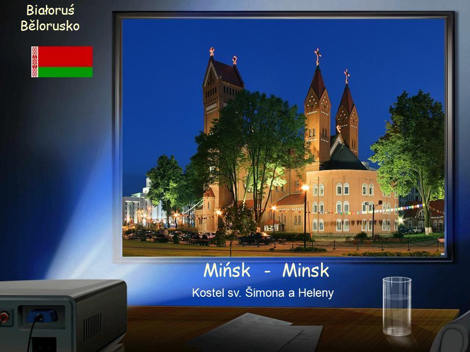 Białoruś Bělorusko Mińsk - Minsk Radnice z 18. století po rekonstrukci