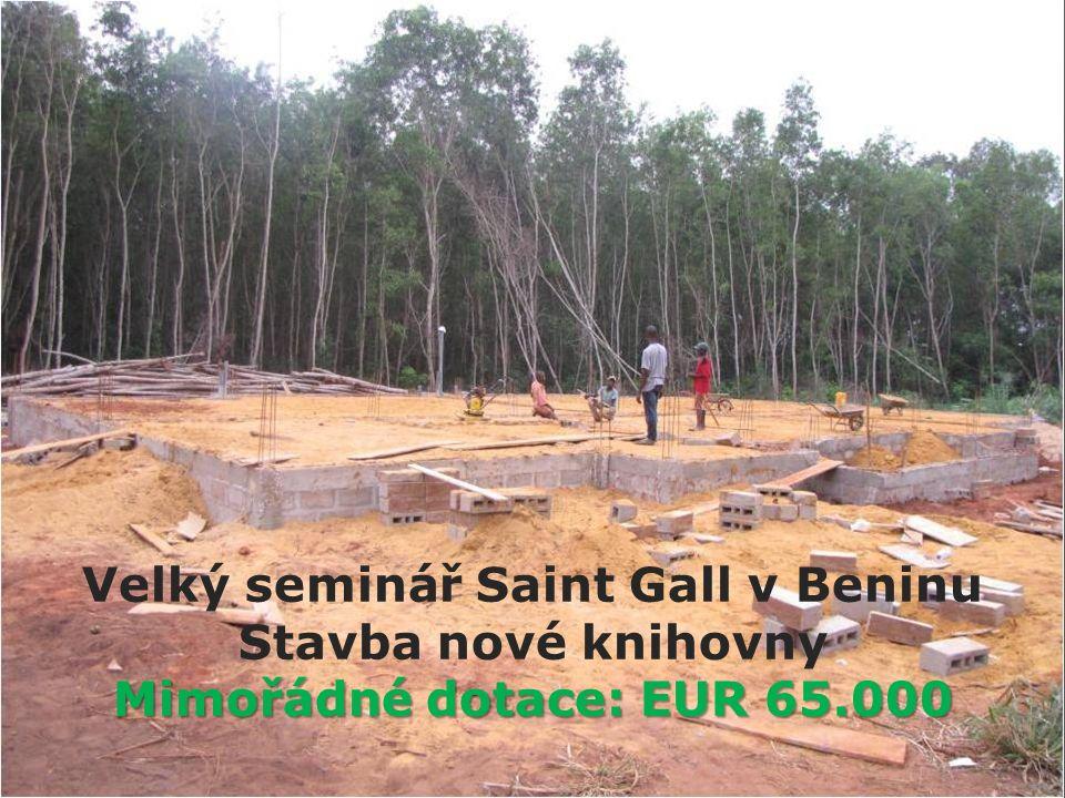 Velký seminář Saint Gall v Beninu Stavba nové knihovny Mimořádné dotace: EUR 65.000