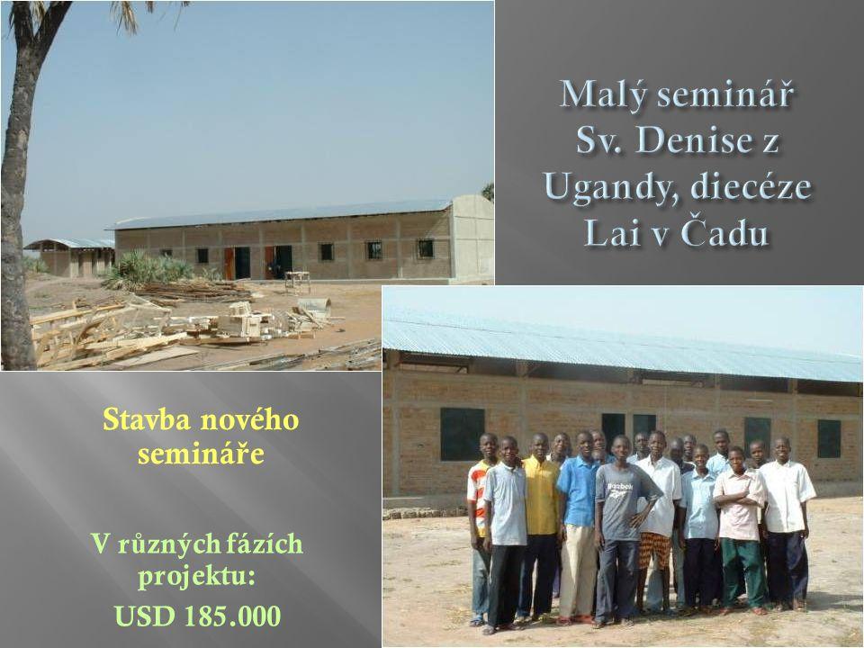 Stavba nového seminá ř e V r ů zných fázích projektu: USD 185.000