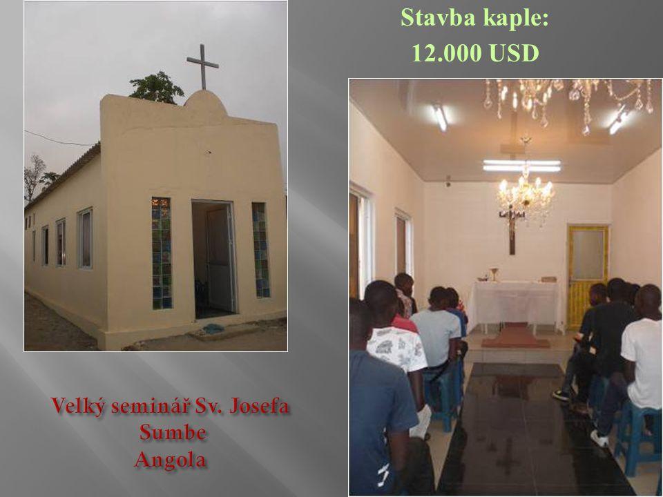 Stavba kaple: 12.000 USD