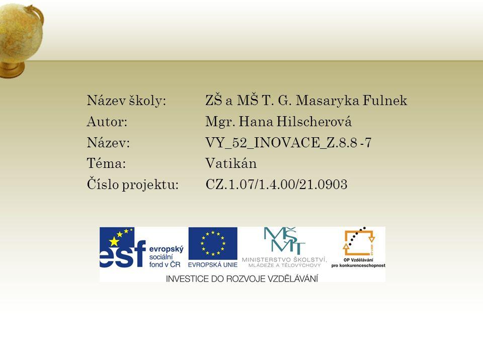 Anotace: Prezentace zabývající se státem Vatikán jako malým státem Evropy.