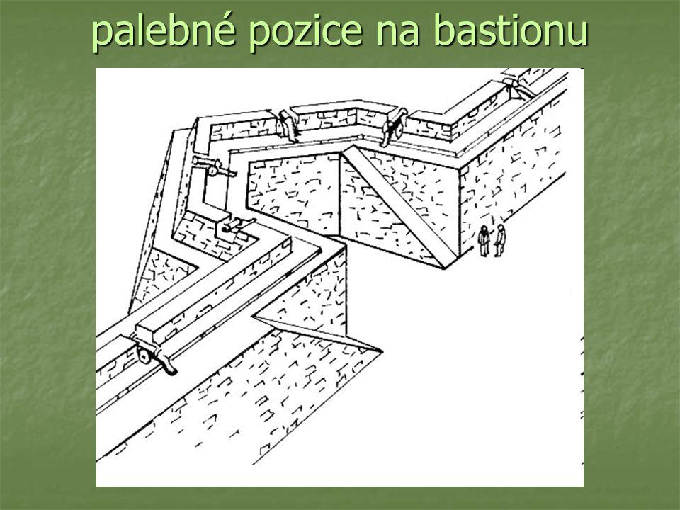 palebné pozice na bastionu