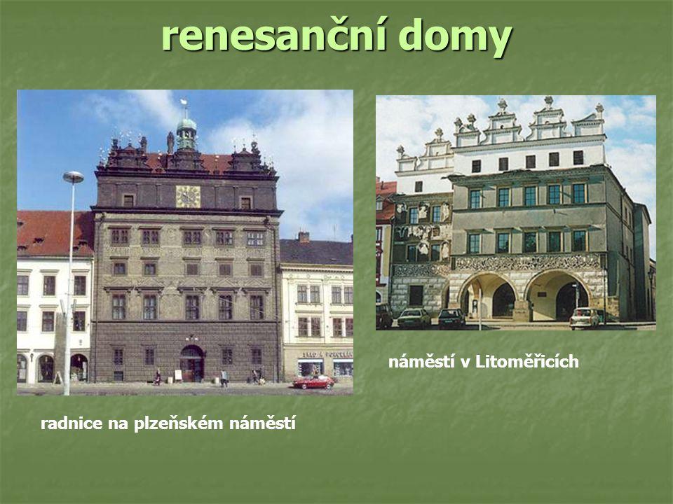 renesanční domy radnice na plzeňském náměstí náměstí v Litoměřicích