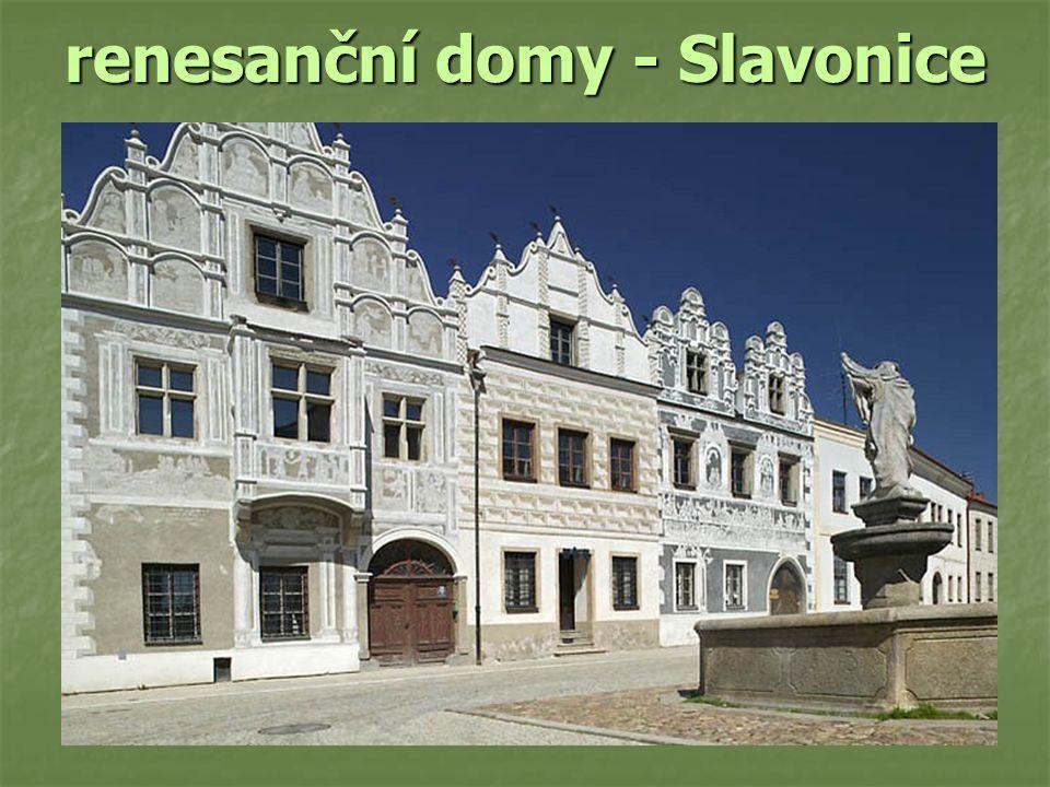 renesanční domy - Slavonice