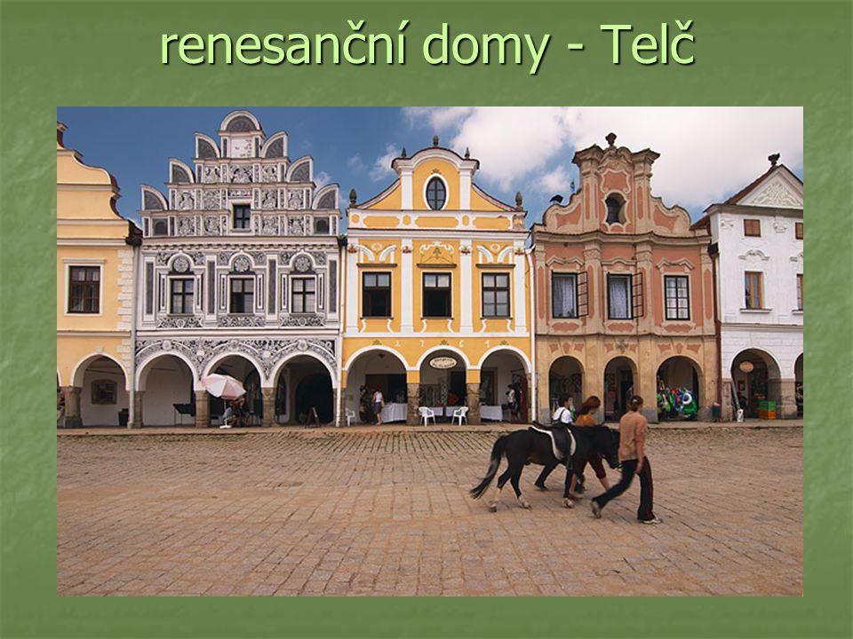 renesanční domy - Telč