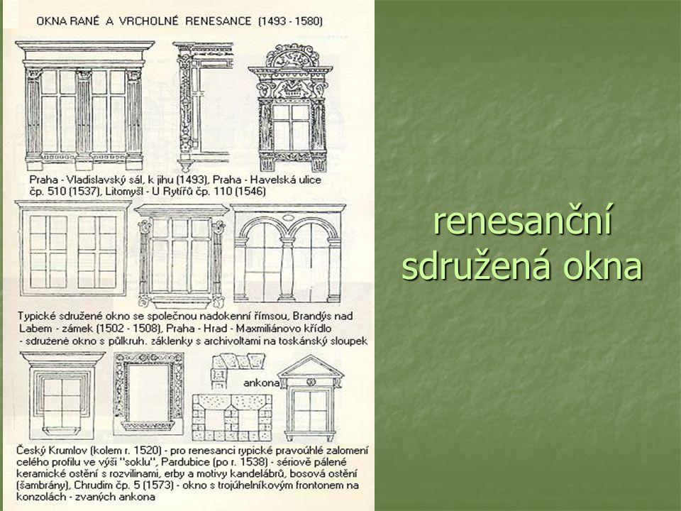 renesanční sdružená okna