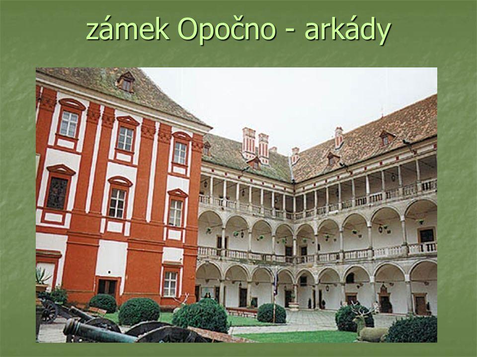 zámek Opočno - arkády