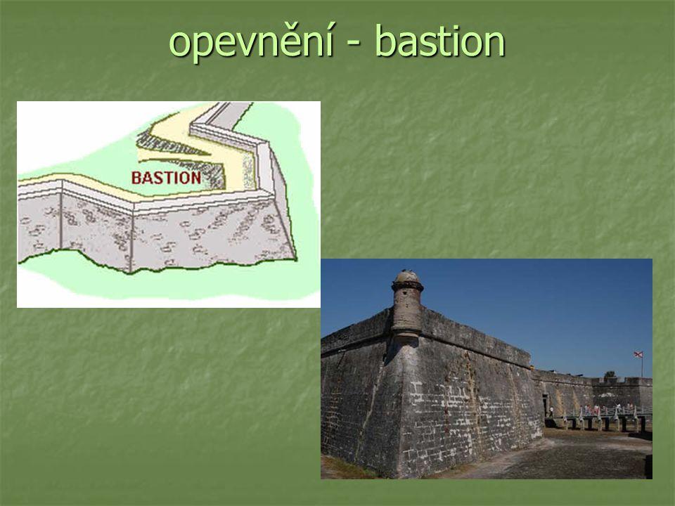 opevnění - bastion