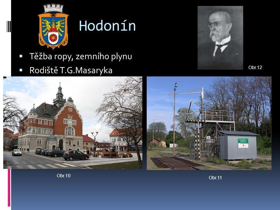 Hodonín  Těžba ropy, zemního plynu  Rodiště T.G.Masaryka Obr.10 Obr.11 Obr.12
