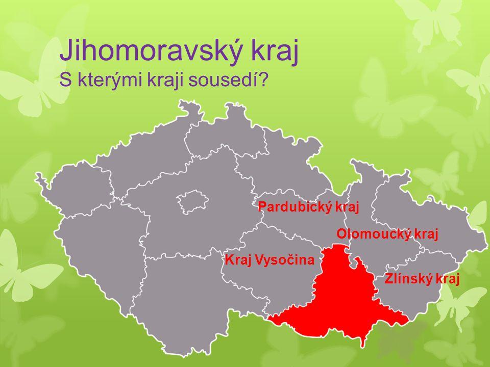 Jihomoravský kraj S kterými kraji sousedí.