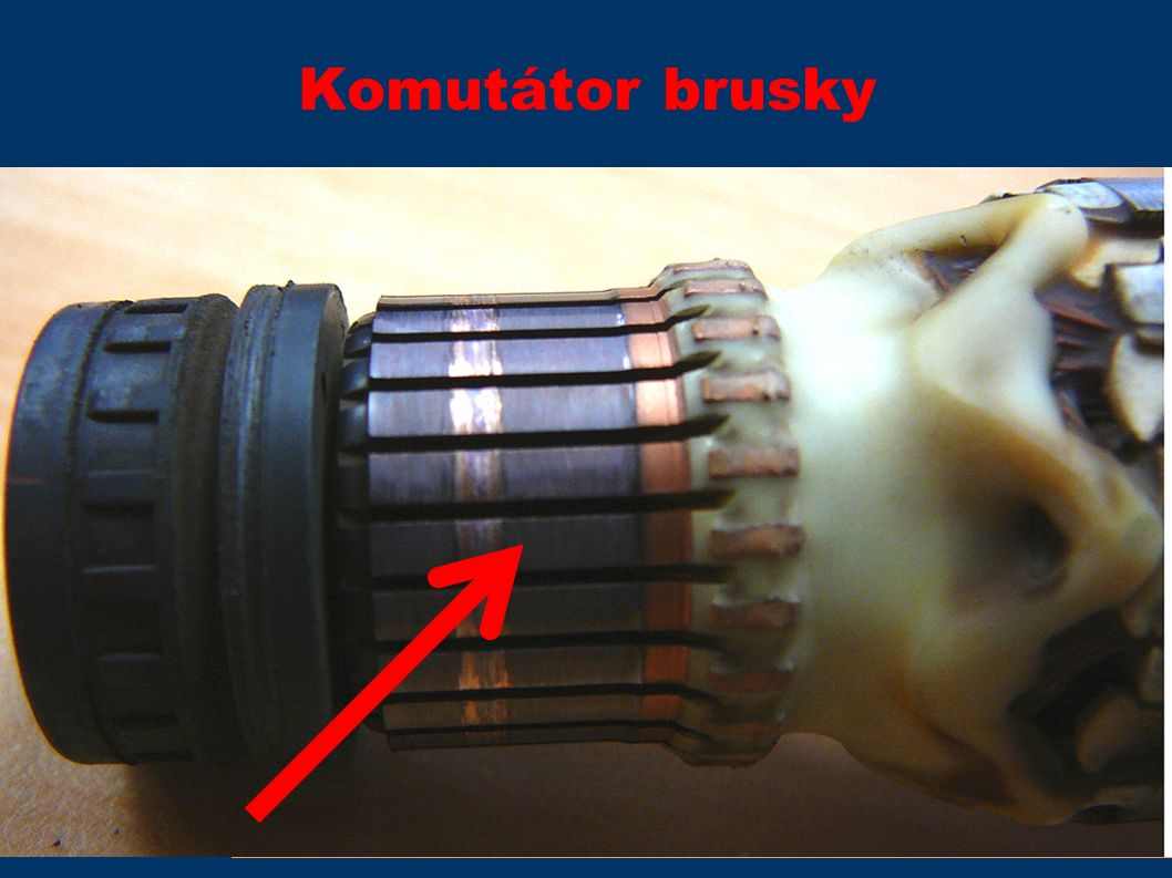 Komutátor brusky