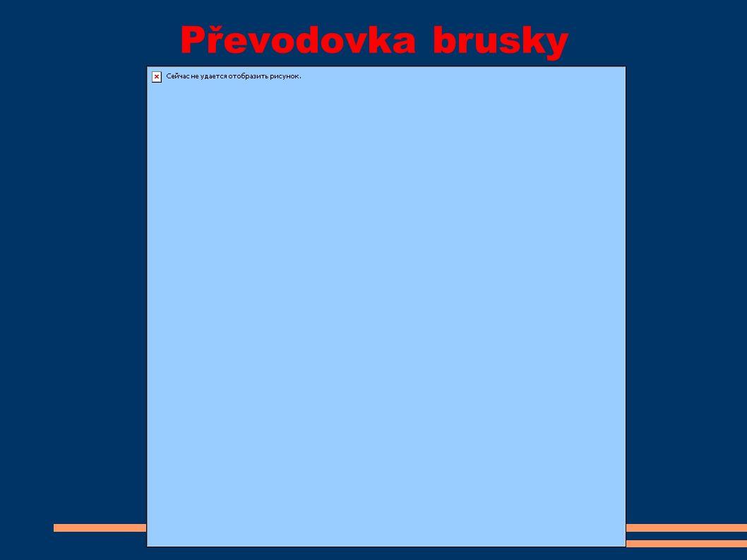 Převodovka brusky