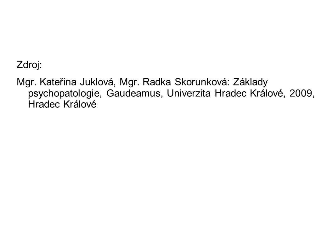 Zdroj: Mgr.Kateřina Juklová, Mgr.