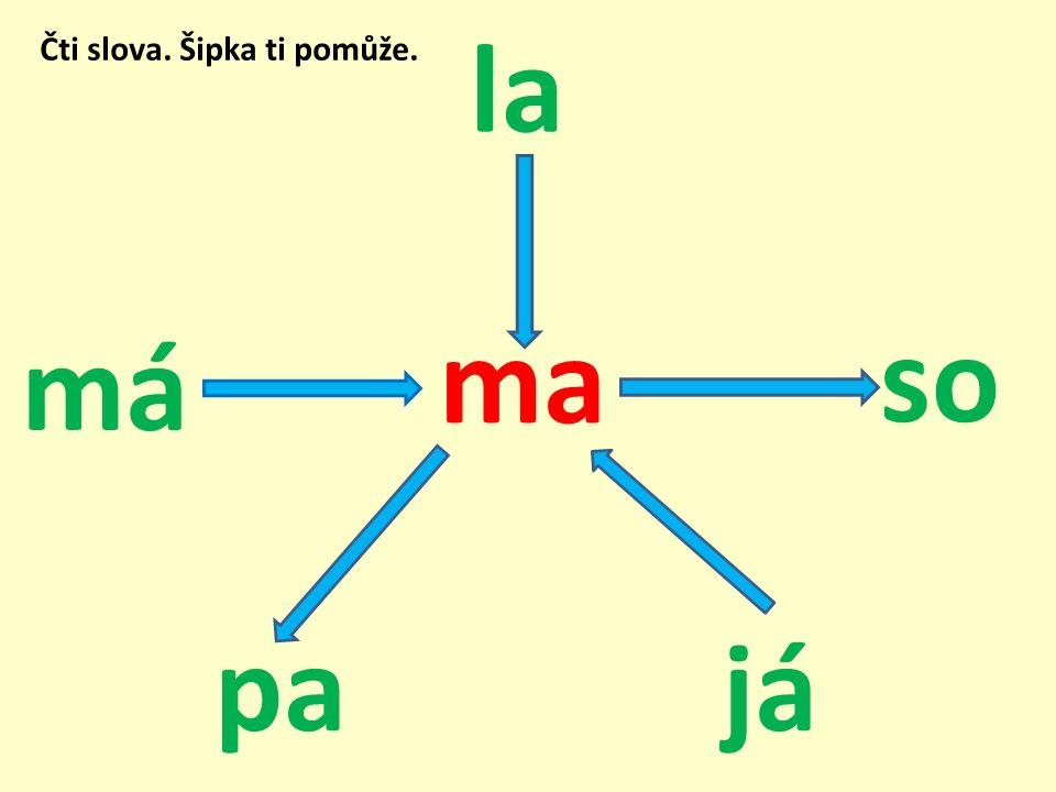 Řešení: máma mapa jáma maso lama