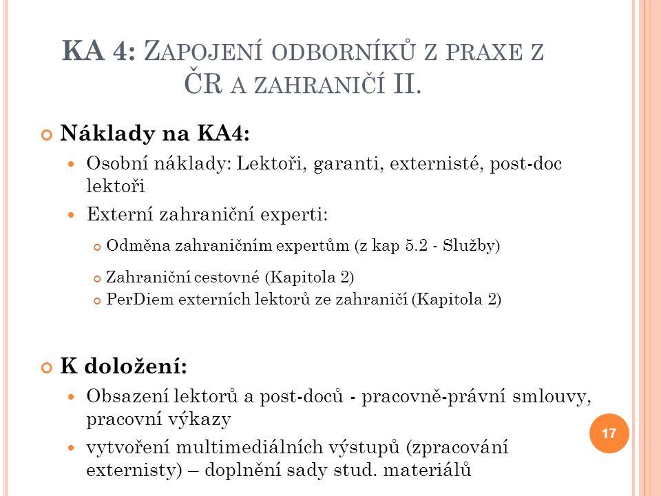 KA 4: Z APOJENÍ ODBORNÍKŮ Z PRAXE Z ČR A ZAHRANIČÍ II.