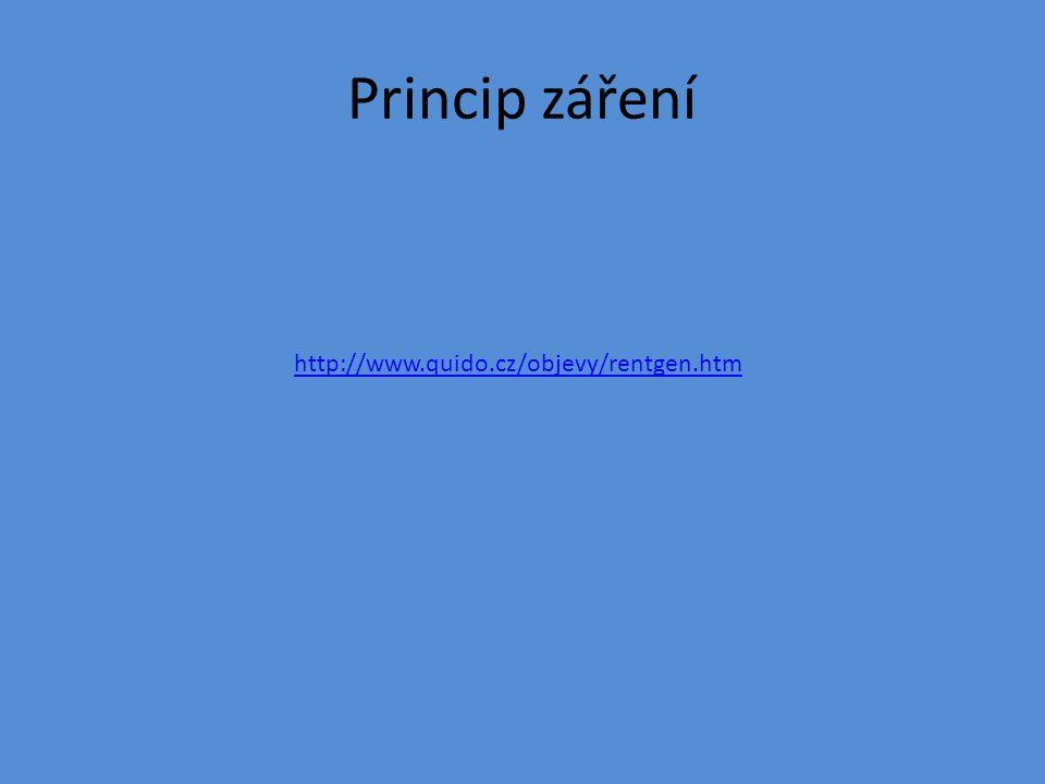 Princip záření http://www.quido.cz/objevy/rentgen.htm