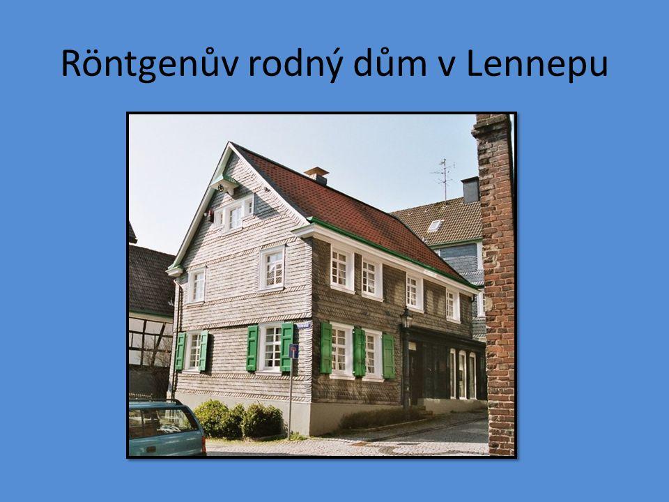 Röntgenův rodný dům v Lennepu