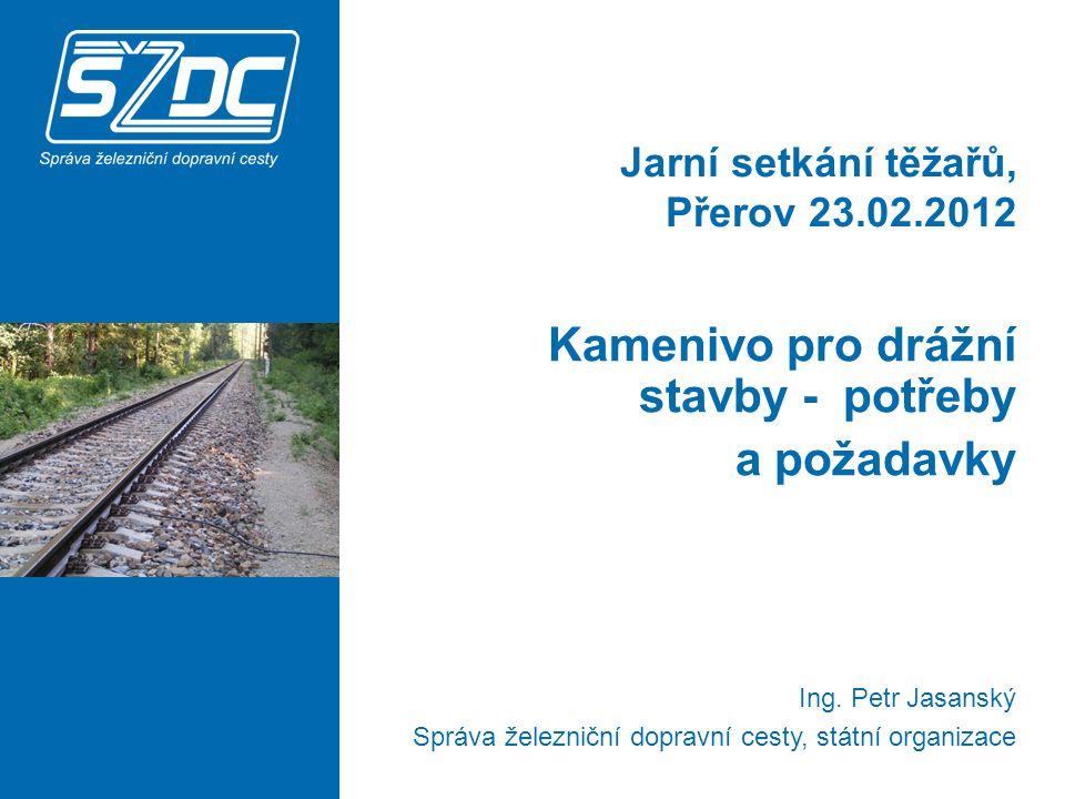 Jarní setkání těžařů, Přerov 23.02.2012 Kamenivo pro drážní stavby - potřeby a požadavky Ing.