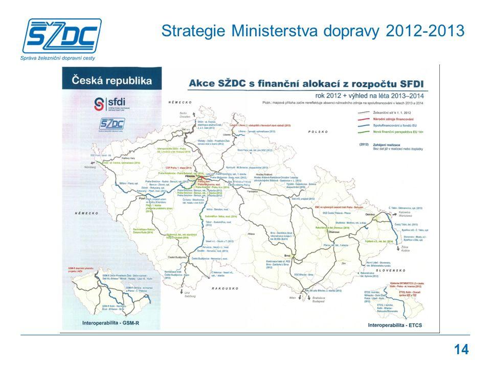Strategie Ministerstva dopravy 2012-2013 14