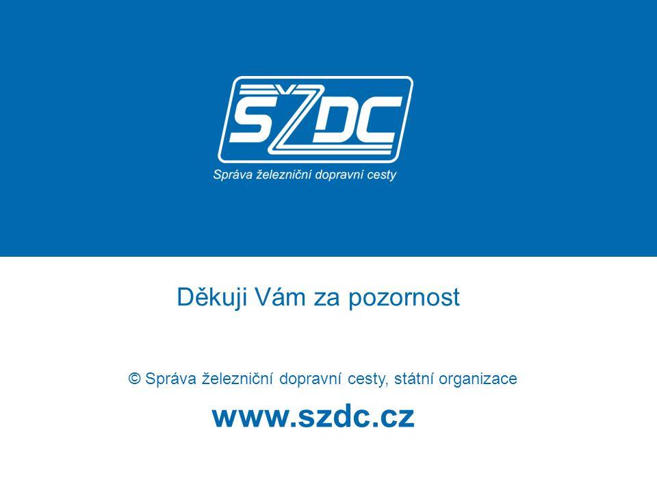www.szdc.cz © Správa železniční dopravní cesty, státní organizace Děkuji Vám za pozornost
