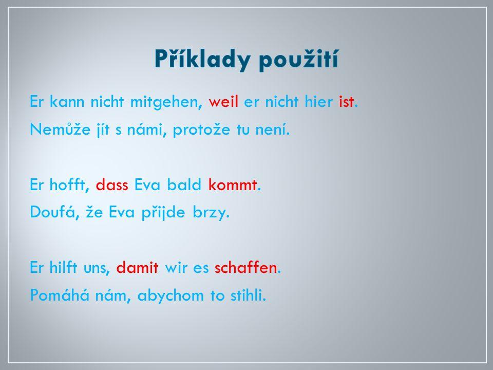 ANOTACE 1)Výklad Jedná se o materiál určený k výkladu gramatického učiva – spojek při výuce německého jazyka v devátém ročníku ZŠ.