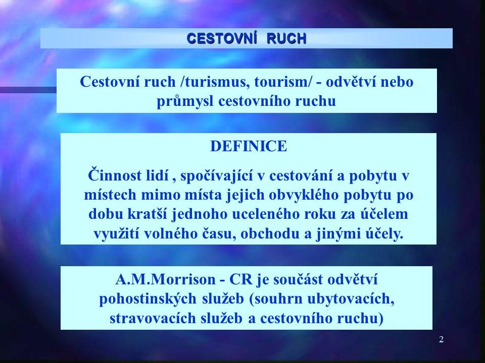 3 CESTOVNÍ RUCH DEFINICE používaná v rámci EU Směrnice Rady Evropské unie č.