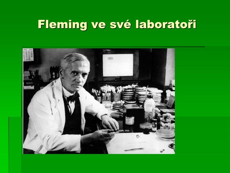 Fleming ve své laboratoři